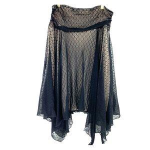 Asymmetrical Skirt Black Flowy A Line Boho Hippie